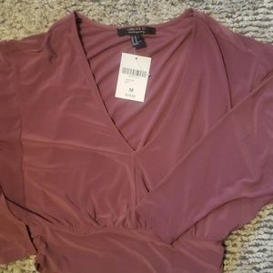 NWT Forever 21 cropped blouse